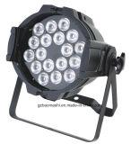 18*8W RGBW 4in1 LEDのアルミニウム同価ライト