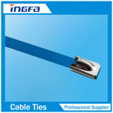 Fascette ferma-cavo d'acciaio rivestite piene del PVC con la sfera della serratura del metallo