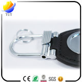 A alta qualidade e pode ser corrente chave personalizada do metal do couro da forma