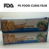 Protección de superficie PE transparente pega película Envoltura de paleta de alta calidad para alimentos