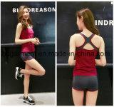 Способ женщин резвится костюм, верхняя часть спортов, одежда гимнастики