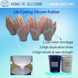Borracha de silicone líquida da classe médica para fazer a mão protética