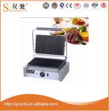 Bifteck électrique commercial de gril de Panini de gril de contact de gauffreuse chaude de vente