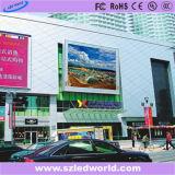 P10 복각 높은 광도 광고를 위한 옥외 풀 컬러 조정 발광 다이오드 표시 패널판 공장