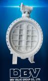 산업 Qt450 Wormgear 플랜지 나비 벨브