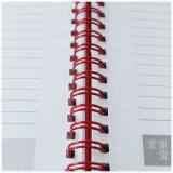 Carnet de notes à spirale de cuir intérieur fait sur commande d'impression avec la bande élastique