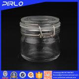 200ml vendent le choc en verre clair hermétique hermétique d'encombrement avec le clip en métal pour le masque facial