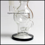 Hfy Glass New 9 Inches Recycler DAB Rigs Oil Glass Smoking Water Pipe Mather Ship Ball