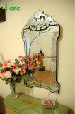 Espejo veneciano de la decoración biselada de la pared, espejo colgante de Deco, espejo antiguo grande