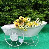 Курган колеса плантатора ковки чугуна сада декоративный