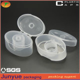 Tapa plástica de la tapa del tirón para el cosmético que empaqueta el tubo o las botellas suave