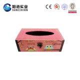 La caja del tejido de madera rústica