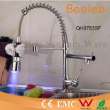 Farbige Kitchen Faucet Two Heads Plattform Mount Hot und Cold Water Pull Down Spring Kitchen Sink Faucet