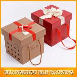 Rote Papierhochzeits-Geschenk-Kästen (BLF-GB010)