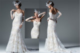 Lace Tulle Satin Mermaid Wedding Dresses W27