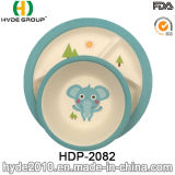 Tierentwurfs-Baby-Bambusfaser-Tafelgeschirr-Sets (HDP-2082)
