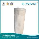 260-280 chaussette de filtre de fibre de verre de tissu filtrant de fibre de verre de degré