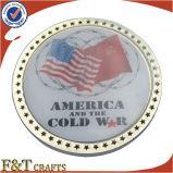 Высокое качество умирает латунным покрынные золотом монетки сувенира металла возможности (FTCN1915A)