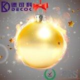 Bola plástica de la nueva del diseño de la decoración Navidad más barata de la fábrica, bola de cristal hermosa de la Navidad