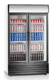 2振動ガラスドア商業冷却装置クーラー