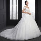 Ball Gown Beading Cap Sleeve Appliques Wedding Dress (Z-004)