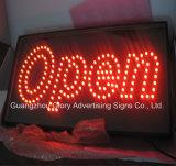 Geöffnetes Zeichen des Höhepunkt-LED und Zoll-Zeichen