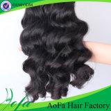 100%Unprocessed自然なボディ波の毛のRemyのバージンの人間の毛髪の拡張