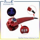 Encrespador de cabelo automático cerâmico com indicador do LCD
