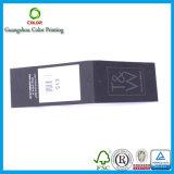Étiquette pliée de papier adaptée aux besoins du client de coup avec Pringting