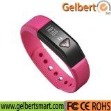 Reloj elegante del podómetro OLED de la pista del sueño del deporte de Gelbert Bluetooth4.0