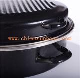 Sunboatの黒い楕円形のエナメルのロースターのカセロールのオーブンの耐熱の深皿の台所用品の台所機器