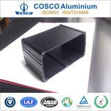 Personalizada de aluminio del recinto para la electrónica con Negro anodizado (ISO9001 certificado)