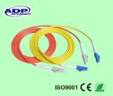 Dell'interno Using il cavo di zona monomodale della fibra 1m dei ponticelli LC/LC Sc/Sc G657 della fibra