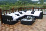 Marco de aluminio Sofá seccional del jardín al aire libre muebles de ratán