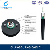 Núcleo de fibra óptica ao ar livre blindado claro do cabo GYXTW 2-12 de Unitube com 2 fios de aço paralelos para a antena do duto