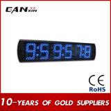 [Ganxin] голубые большие часы стены цифровых часов СИД с дистанционным управлением