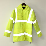 Lucifer gelber Kalk mit Kapuze PU-Umhüllung/Regenmantel/reflektierende/Sicherheits-Kleidung für Erwachsenen
