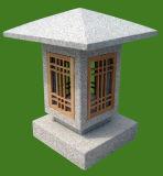 Lanterna naturale grigia del granito di stile del Giappone per esterno/giardino