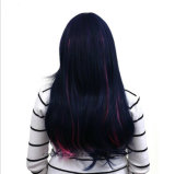 Il colore di alta qualità evidenzia le parrucche sintetiche diritte lunghe lanuginose