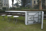Table esterno Specific Use e Plastic HDPE Metal Material 8ft Tables e Chairs
