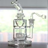 Tubos de agua de cristal claros con el Banger/el tazón de fuente del compartimiento de la miel