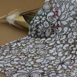 衣服のアクセサリのための刺繍のかぎ針編みの綿のコードのレースファブリック