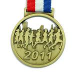 리본 (XD-03027)를 가진 주문을 받아서 만들어진 금속 스케이트를 타는 스포츠 메달