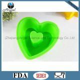 Carter de traitement au four de Bakeware de silicones avec la forme Sc05 approuvé par le FDA de coeur