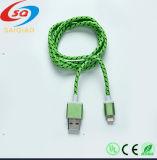 Câble tressé d'USB de nylon coloré pour iPhone5/5s/6