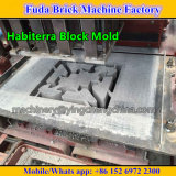 Máquina de fatura de tijolo concreta estacionária pequena de Habiterra
