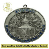 Medaille mit Antique Silver Plating, Medallion mit 3D Effect