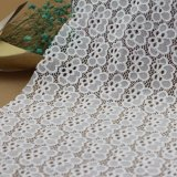 Tissus de lacet de coton de broderie de jacquard pour des accessoires d'habillements