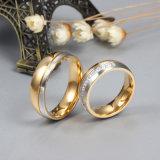 De in het groot Ringen van de Diamanten bruiloft van CZ voor de Ring van het Roestvrij staal van de Liefde verstrekken de Grootte van de Mengeling