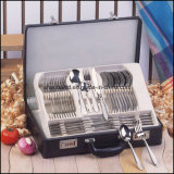 72 PCS Cutlery Set con Leather Box